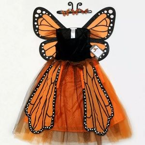 Pottery Barn Costume Monarch butterfly & bag